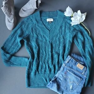 ⚘Sonoma Teal Knit Sweater